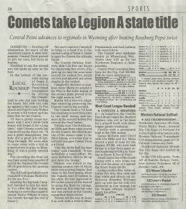 Comets State Title